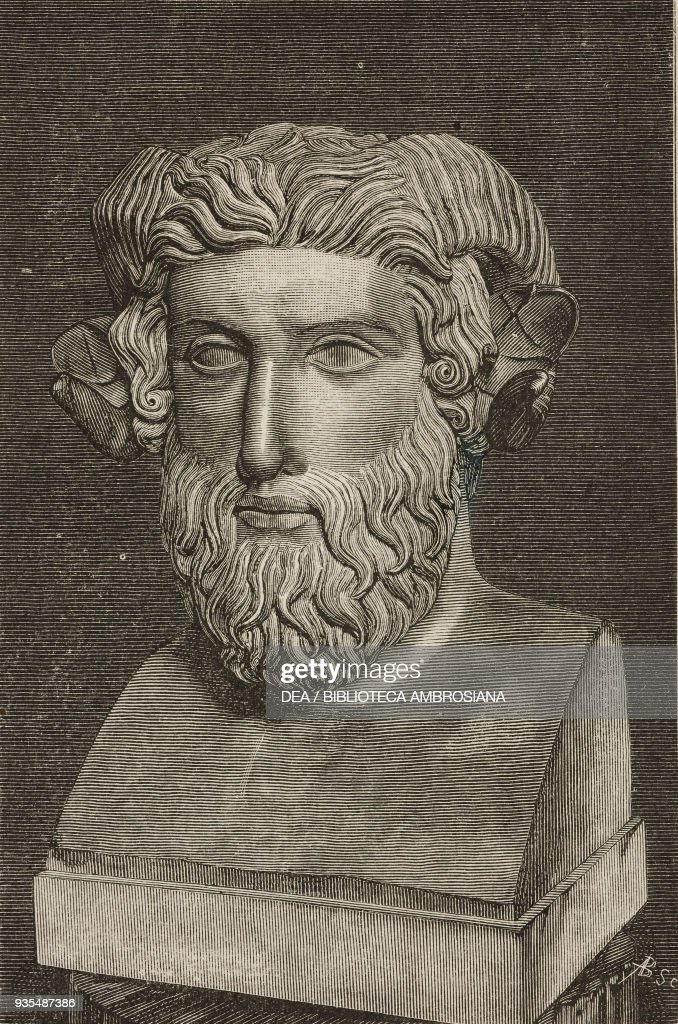 Marble Bust Of Jupiter Ammon Illustration From Histoire