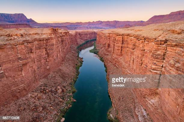 marble canyon and colorado river in arizona usa - canyon foto e immagini stock