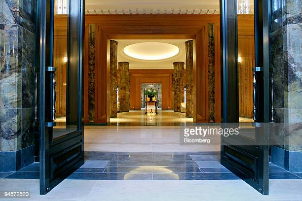 Marble columns stand inside the lobby of 15 Central Park West in New York US on Monday Nov 5 2007