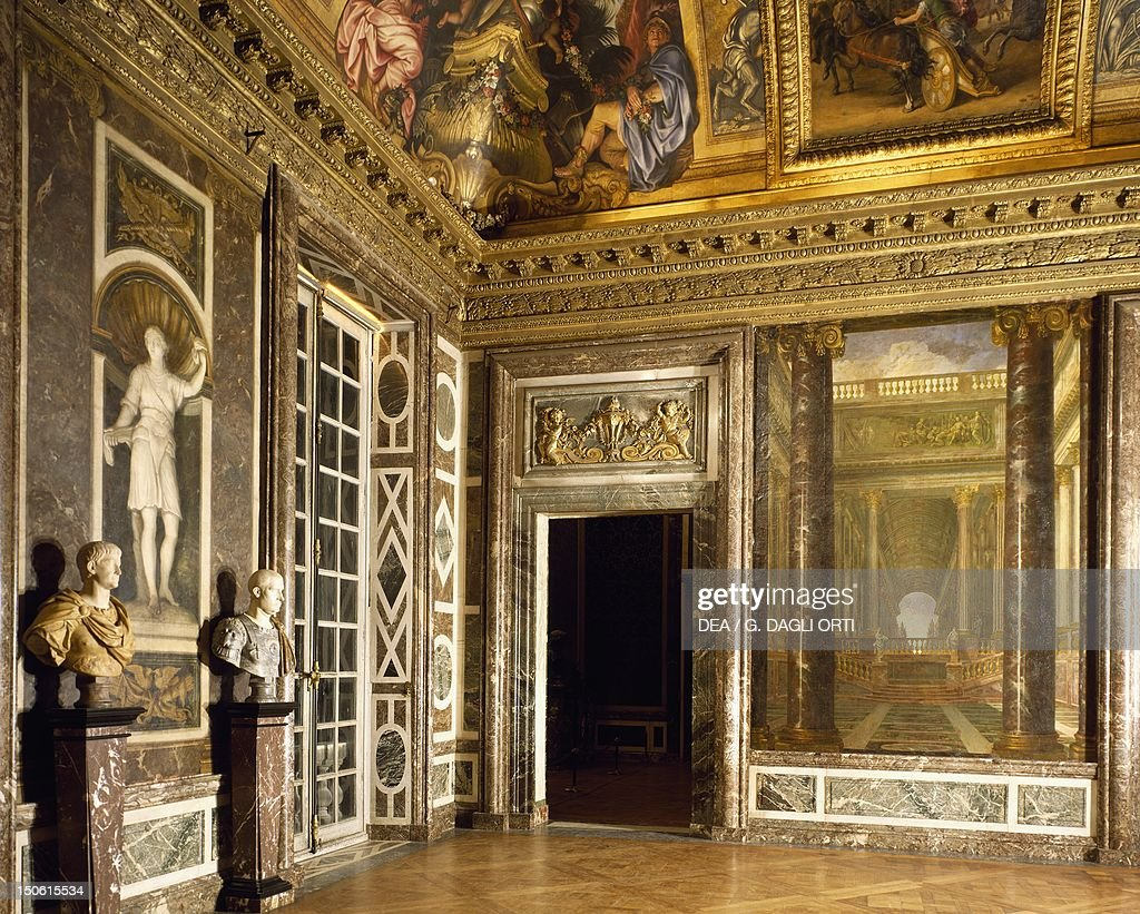 Marble Decoration And Trompe L Oeil Paintings From The Salon Of News Photo Getty Images