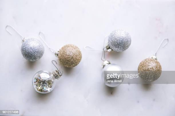Marble Flat Lay Christmas Flat Lay Christmas Ornaments