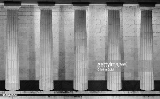 marble foundation of a powerful city - architectural column stock pictures, royalty-free photos & images
