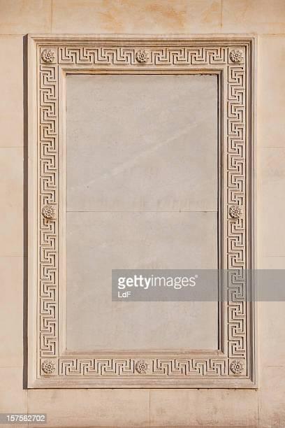 大理石のフレームに外部の壁にローマの教会 - トラバーチン ストックフォトと画像