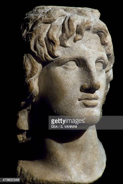 Marble head of Alexander the Great from Egypt Hellenistic civilisation 2nd1st century BC London British Museum