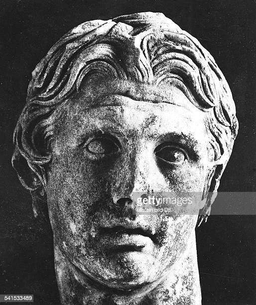 A marble head of Alexander the Great from Pergamum in modern Turkey