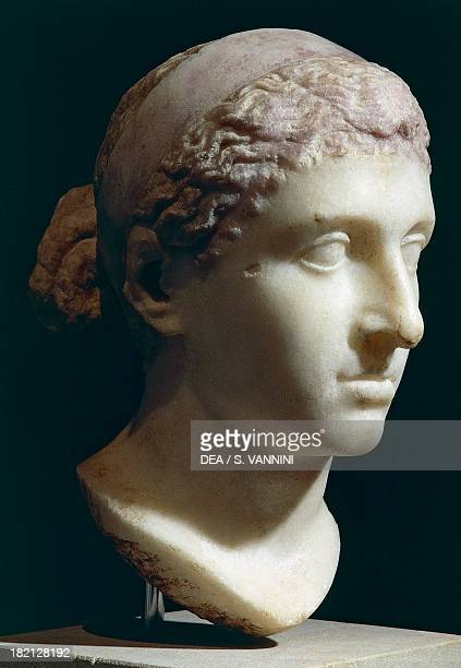 Marble head of Cleopatra VII Roman Civilisation 5030 BC Berlin Pergamonmuseum