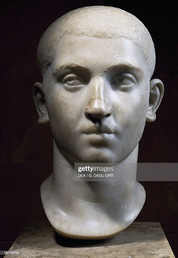 Marble head of Emperor Alexander Severus... : News Photo