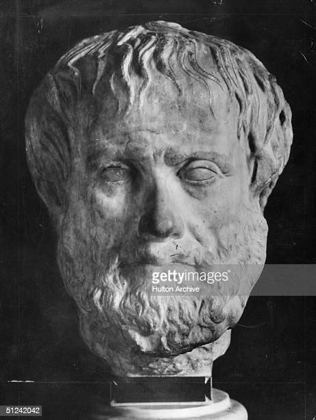 325 BC A marble head of Greek philosopher Aristotle