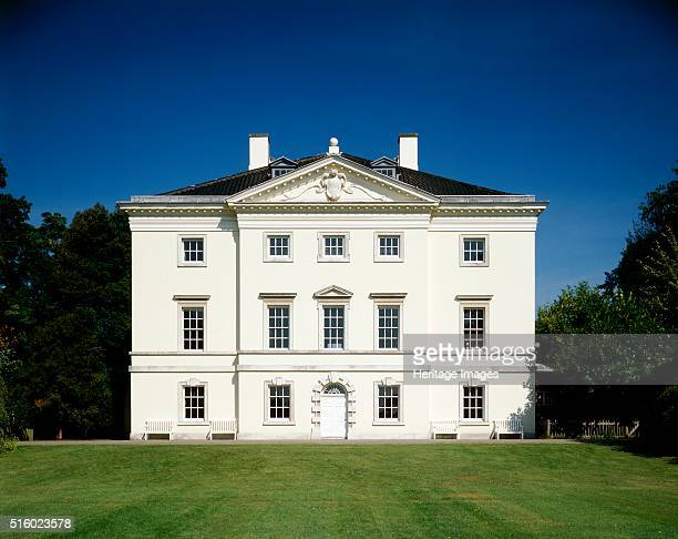 Marble Hill House, Twickenham, Richmond, London, c2000s. View of the South front of the riverside Palladian villa built in 1724-1729 for the Countess...