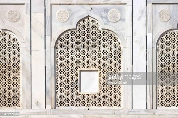 marble jali (window) at taj mahal - mughal empire stock pictures, royalty-free photos & images