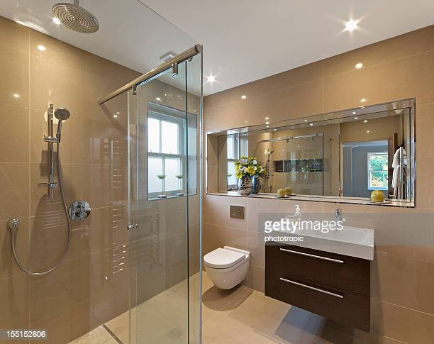marble lined shower room