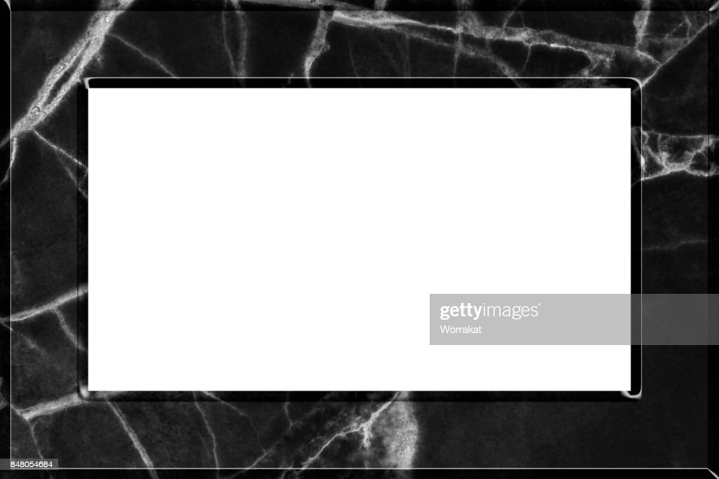 d5b9e8e18923 Marble Picture Frame Isolated On White Background Stock Photo ...
