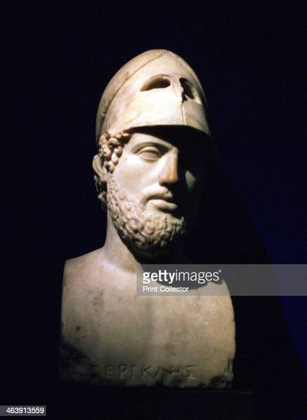 Marble portrait bust of Perikles Athenian statesman Roman 2nd century BC Perikles led the democracy of Athens at the height of the city's power and...