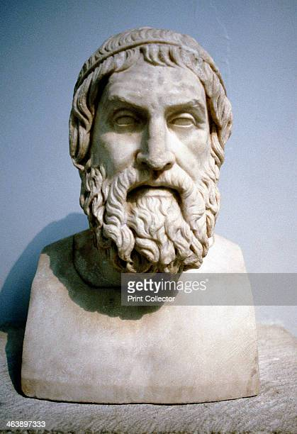 Marble portrait bust said to be of Sophocles, Athenian writer of tragedies. Sophocles was one of the great figures in Ancient Greek drama.