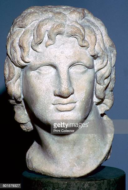 Marble portrait of Alexander the Great Hellenistic Greek 2nd1st century BC Earlier portraits of Alexander in heroic style look less youthful than...