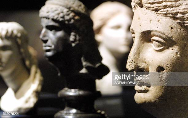 Marble portraits of Cleopatra at the new exhibition at The British Museum in London 10 April 2001 The exhibition 'Cleopatra of Egypt From History to...