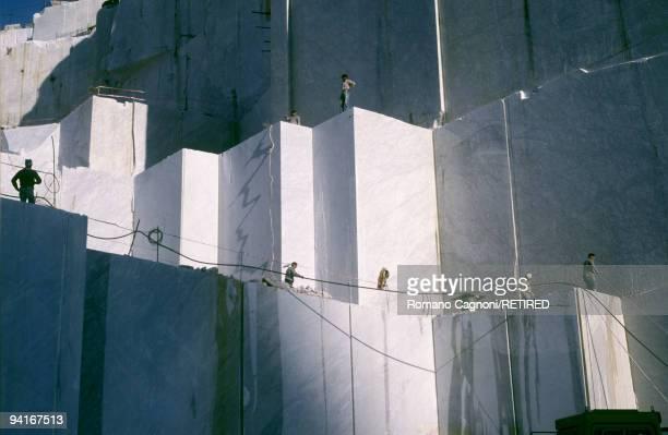 A marble quarry in Carrara Italy circa 2005