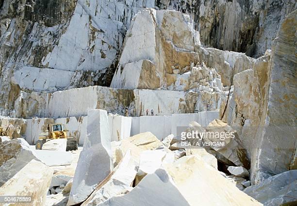 Marble quarry near Carrara Apuan Alps Tuscany Italy