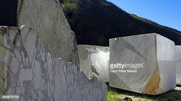 marble quarry near Levigliani, Apuan Alps, Tuscany