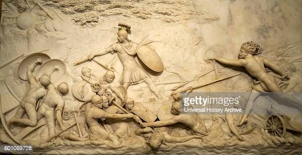 Marble relief depicting Julius Caesar invading Britain by John Deare a British neoclassical sculptor Dated 18th Century