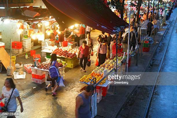 Marble Road Market night shopping stalls