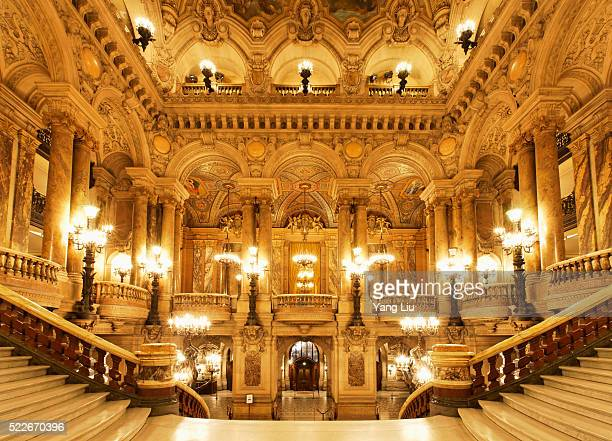 Marble staircases in Paris Opera House