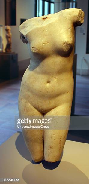 Marble statue of Aphrodite Anadyomene Greek 3rd2nd century BC or Roman Early Imperial 1st century AD
