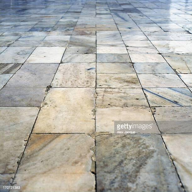 Marble Stone Floor at Taj Mahal in Agra, India
