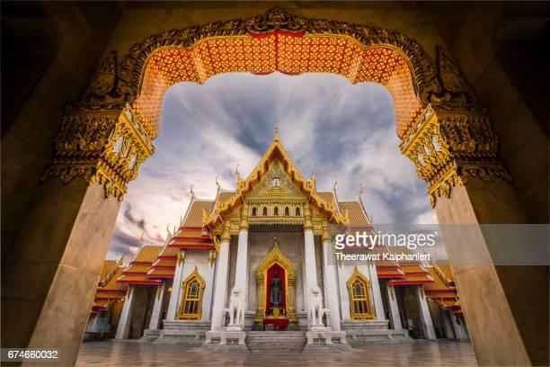 Marble Temple (Wat Benchamabophit), Bangkok, Thailand.