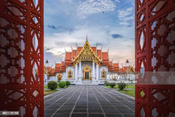 Marble temple (Wat Benchamabophit), Bangkok, Thailand