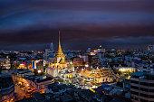 Marble Temple buddha in China town area in Bangkok city, Bangkok, Thailand.