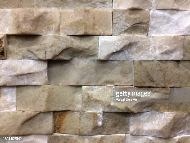 marble wall bricks background - rafael ben ari - fotografias e filmes do acervo