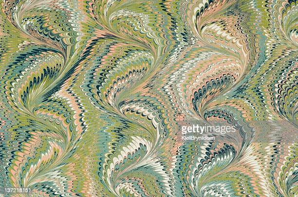 A marbled paper with visible curve pattern