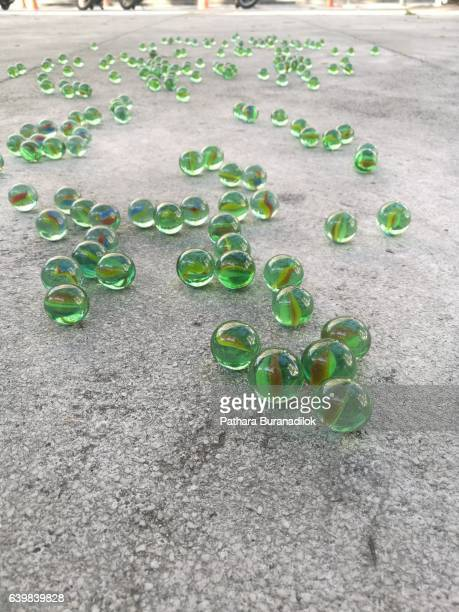 Marbles on the ground