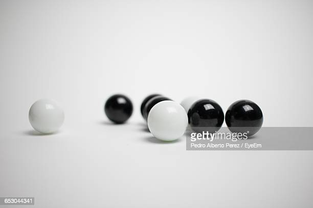 Marbles On White Background