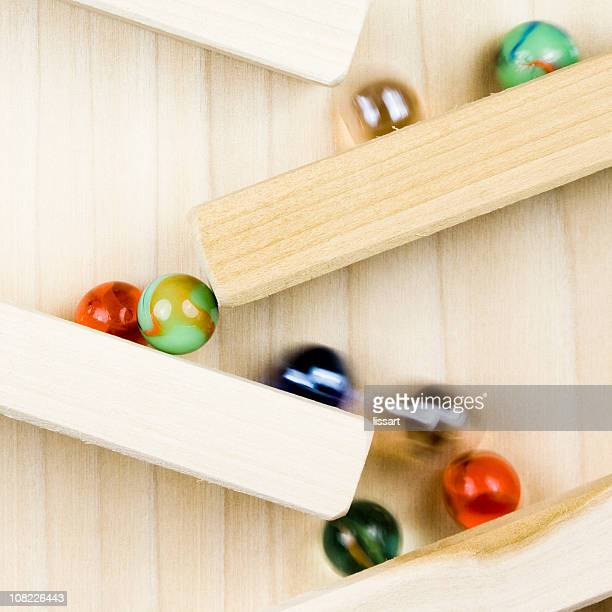 Marbles on Wooden Toy