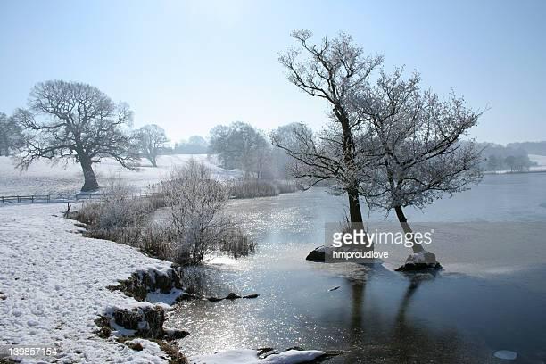 Marbury mere in winter