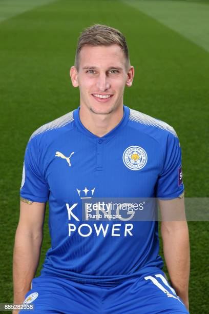 Marc Albrighton during the Leicester City Official Team Group on November 1 2017 in Leicester United Kingdom