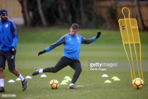 Marc Albrighton during the Leicester City training session at Belvoir Drive Training Complex on March 08 2018 in Leicester United Kingdom