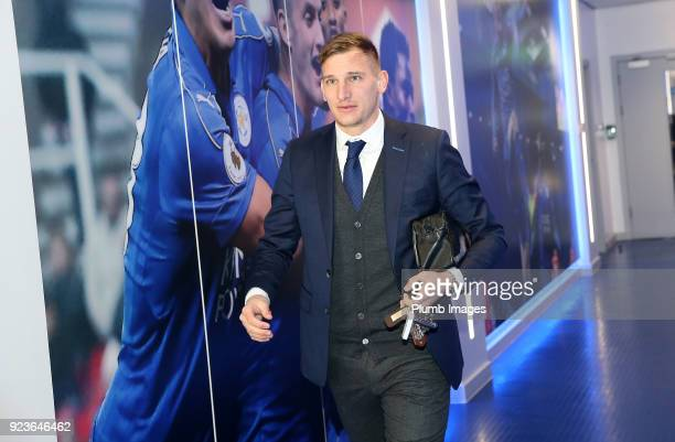 Marc Albrighton during the Premier League match between Leicester City and Stoke City at King Power Stadium on February 24th 2018 in Leicester United...