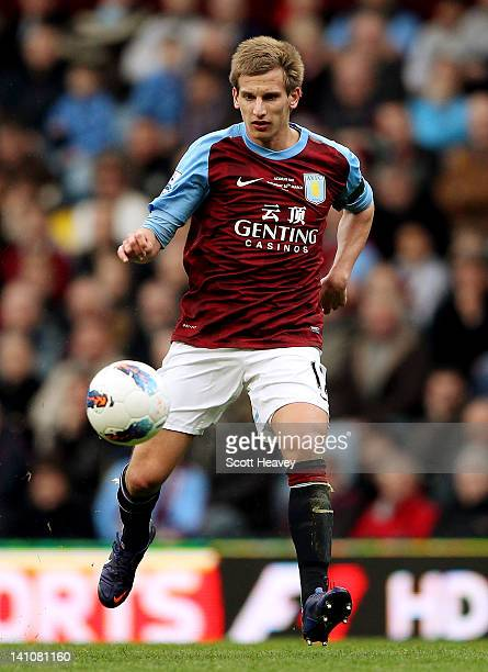 Marc Albrighton of Aston Villa during the Barclays Premier League match between Aston Villa and Fulham at Villa Park on March 10 2012 in Birmingham...