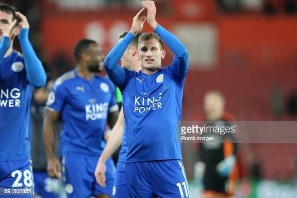 Marc Albrighton of Leicester City after the Premier League match between Southampton and Leicester City at St Mary's Stadium on December 13th 2017 in...