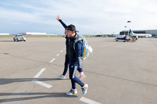 GBR: Leicester City Depart for Athens for the Europa League