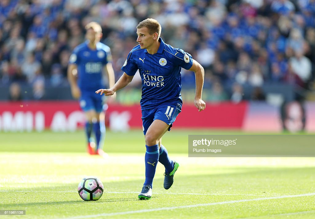 Marc Albrighton of Leicester City during the Barclays Premier League match between Leicester City and Southampton at the King Power Stadium on October 2nd , 2016 in Leicester, United Kingdom.