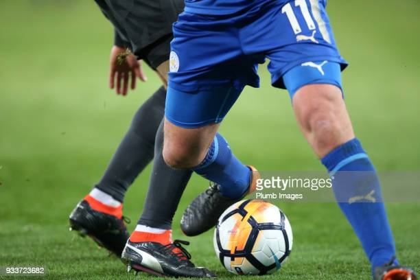 Marc Albrighton of Leicester City during The Emirates FA Cup Quarter Final tie between Leicester City and Chelsea at King Power Stadium on March 18...