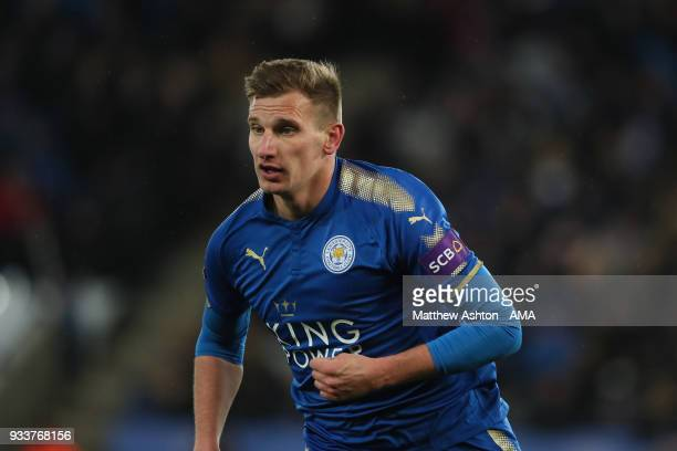 Marc Albrighton of Leicester City during the FA Cup Quarter Final match between Leicester City and Chelsea at The King Power Stadium on March 18 2018...