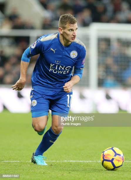 Marc Albrighton of Leicester City during the Premier League match between Newcastle United and Leicester City at St James Park on December 9th 2017...