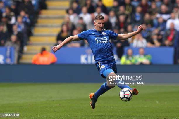 Marc Albrighton of Leicester City during the Premier League match between Leicester City and Newcastle United at The King Power Stadium on April 7...