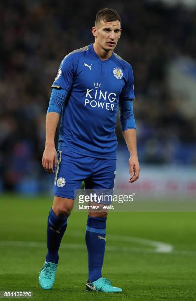 Marc Albrighton of Leicester City in action during the Premier League match between Leicester City and Burnley at The King Power Stadium on December...
