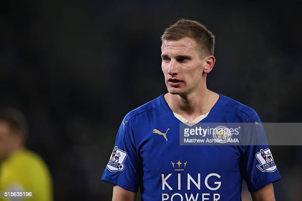 Marc Albrighton of Leicester Cityduring the Barclays Premier League match between Leicester City and Newcastle United at the King Power Stadium on...